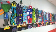3rd gr. city - another grade could do the cars to make it more collaborative