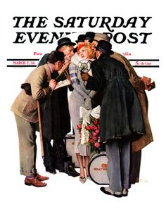"""""""Hollywood Starlet"""" Saturday Evening Post Cover, March 7,1936"""