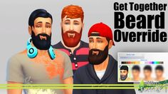 Get Together Beard Fix at Kiwi Sims 4 via Sims 4 Updates