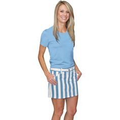 Game Bibs Women's Skirt - Carolina Blue/White