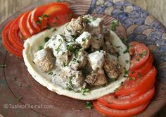 Chicken with Zaatar and Tahini Sauce. An easy and delicious Lebanese-inspired meal concocted by a chef in Taipei! Real Food Recipes, Chicken Recipes, Cooking Recipes, Healthy Recipes, Healthy Food, Morrocan Food, Fresh Eats, Tahini Sauce, Eastern Cuisine