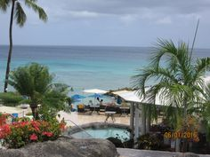 You know you arrived at a little piece of heaven when you see this view from the lobby of Crystal Cove Barbados.  #myvacationlady