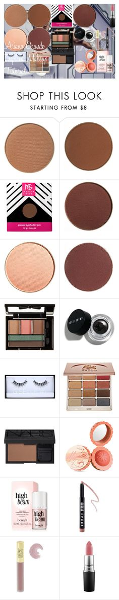 """Ariana Grande Inspired Makeup Tutorial"" by oroartye-1 on Polyvore featuring beauty, NYX, Bobbi Brown Cosmetics, Huda Beauty, Stila, NARS Cosmetics, Benefit, LORAC, Gerard Cosmetics and MAC Cosmetics"