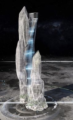 Parametric Architecture, Futuristic Architecture, Amazing Architecture, Contemporary Architecture, Architecture Design, Cnc Cutting Design, Ancient Greek City, Modern Skyscrapers, Building Concept