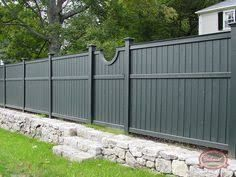 garden fence paint ideas best paint for wood fence wood fence paint colors best grey fence paint ideas on small garden wood paint colours Front Yard Fence, Farm Fence, Fenced In Yard, Fence Gate, Dog Fence, Fence Panels, Fence Landscaping, Backyard Fences, Garden Fencing