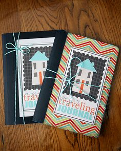 Taveling Journal.  Use a composition book, make a cute cover, jot a not about what's going on in your life and send it on.  Great idea for kids' pen pals or for mamas keeping in touch.  Include some family pictures, drawings or other fun stuff to stay connected to friends far away. ( perfect for my Fav Allie )