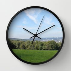 Scenic View over Wuppertal Wall Clock by Christine aka stine1 - $30.00