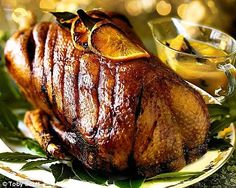honey-roast goose recipe. makes a change from turkey for christmas dinner. with orange and honey sauce