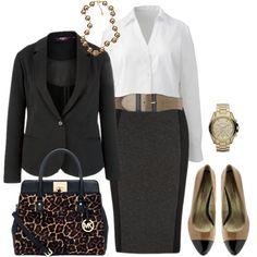 """Office Wear - Plus Size"" by alexawebb on Polyvore"