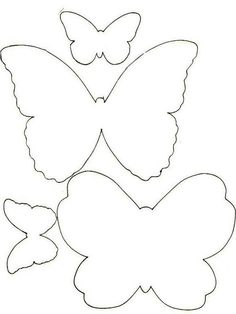 Trendy Ideas For Embroidery Patterns Butterfly Templates Butterfly Template, Butterfly Crafts, Butterfly Pattern, Flower Crafts, Paper Butterflies, Giant Paper Flowers, Diy And Crafts, Crafts For Kids, Paper Crafts