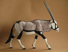 Gemsbok 1:22 scale - made by Harriet Knibbs Sculptures Ltd