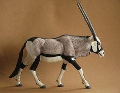 Gemsbok 1:22 scale - made by Harriet Knibbs Sculptures Ltd
