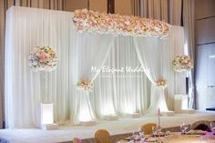 May 2020 - 43 ideas wedding flowers church altar ceremony backdrop Wedding Shower Centerpieces, Church Wedding Decorations, Marriage Decoration, Engagement Decorations, Wedding Church, Church Ceremony, Simple Stage Decorations, Wedding Ceremony Ideas, Wedding Stage Design