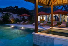 Bali Villa Photography - Villa Kaniksa - pool view at night