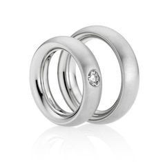 ORRO Contemporary Jewellery Glasgow - Niessing - Platinum Pointed Oval Round Inside Wedding Rings -Modern Wedding Rings at ORRO JewelleryGlasgow by Niessing