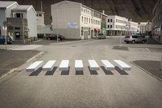 横断歩道にトリックアートを導入! この試みで事故は減少するのか? | 四葉のclover