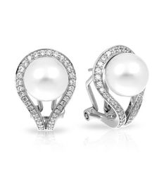 Claire White Earrings