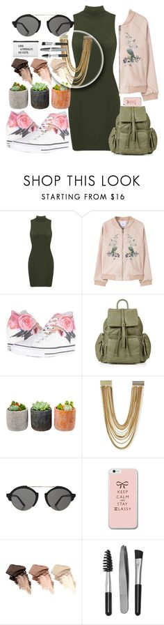 """💚💜💙💛📷💕"" by naomy-nona ❤ liked on Polyvore featuring MANGO, Converse, Topshop, Shop Succulents, Kendra Scott, Illesteva, Urban Decay and Sephora Collection"
