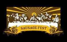 SAUSAGE FEST T-SHIRT, tshirthell.com