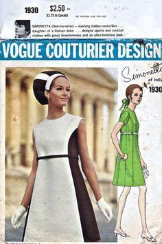 1968 Vintage ALine Mod Dress Pattern  UNCUT  by AppleBettyCurio, $40.00