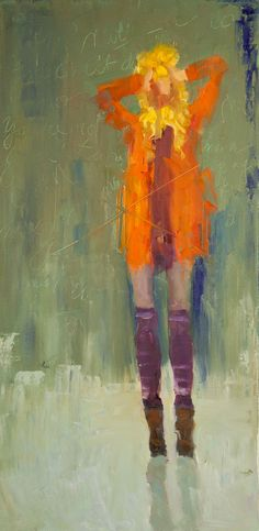 abstract figurative, voices in my head, expressive artwork, oil painting
