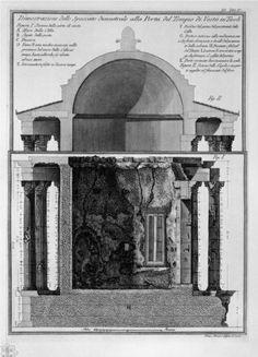 Demonstration of cross-section diameter of the Gate of the Temple of Vesta in Tivoli - Giovanni Battista Piranesi