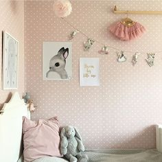 Such a cute room! Poster Kids - BUNNY | 199SEK/22€ 30x40cm Available in four…
