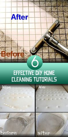 6 Effective DIY Home Cleaning Tutorials CONTINUE:…
