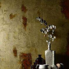 декоративная краска, тонкослойный материал, золотая краска, краска под золото #interior #design #novacolor #ukraine