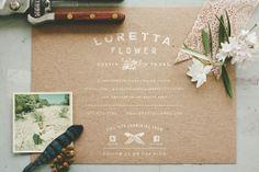 Loretta flower // White on Kraft