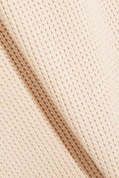 Vince - Waffle-knit Cotton Top - Cream - x small