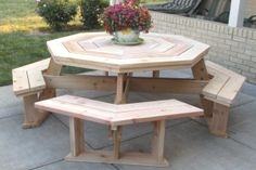 Round picnic table plans