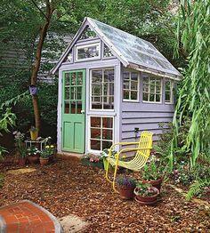 Diy greenhouse from scrap materials