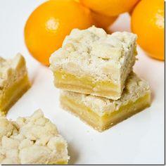 Meyer Lemon Shortbread Bars