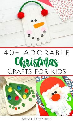 Looking for the best Christmas crafts for kids to make at home or school, whether your children are in preschool, kindergarten, or elementary school? Here are over 40 adorable DIY Christmas crafts for kids   many are easy to make with our printable Christmas crafts for kids templates. Get this list of the best Christmas kids crafts   printable craft templates here! Cute Christmas Paper Crafts for Kids | Homemade Christmas Ornaments for Kids to Make | Easy Christmas Crafts for Kids