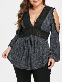ca8e8494c5947 Plus Size Open Shoulder Empire Waist T-shirt Clothing Sites