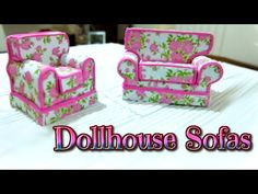 Dollhouse furnitures handmade, miniature sofas Foamy - Isa ❤️
