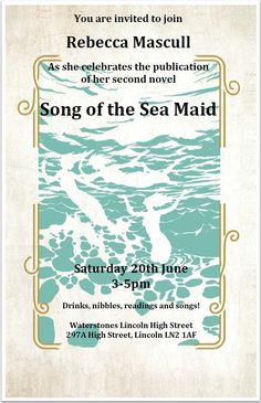 The gorgeous invitation to the book launch in June 2015. All welcome!