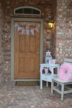 1000 images about shabby chic birthday party ideas on for Baby shower front door decoration ideas