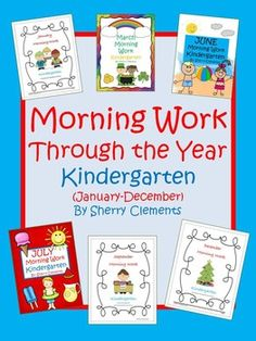 Morning Work Through the Year - Kindergarten (January-December) - Great for BACK TO SCHOOL! Language arts and math skills daily! Also great for homework or centers. $