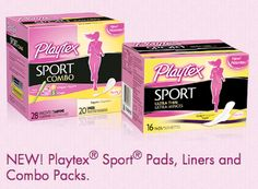 Free Playtex Sport Pad or Liner plus a $2/1 coupon :: http://www.heyitsfree.net/free-playtex-sport-pad-or-liner/