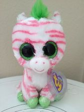 "Ty Beanie Boos ~ SAPPHIRE the 6"" Zebra ~ 2012 Justice Exclusive ~ RARE READ"