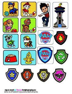 Printable Paw Patrol Stickers