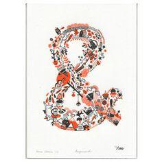 Gemma Correll  Ampersand letterpress print  http://gemmacorrell.com/