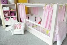 lifetime 4 in 1 kinderbett hochbett himmelbett jugendbett massivholz 90x200cm. Black Bedroom Furniture Sets. Home Design Ideas