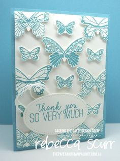 We are casing a layout from the 2019 Occasions Catalogue. There are so many great layouts to case but I decided to go case the layout of the card o… Layout, Stamping Up, Rubber Stamping, Butterfly Cards, Card Tags, Paper Cards, Homemade Cards, Stampin Up Cards, Your Cards