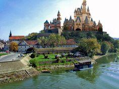 petrovaradin fortress, built in the18th century, located on the danube river, novi sad, serbia