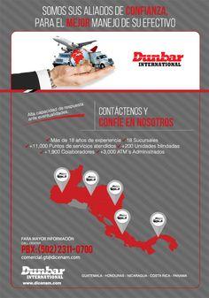Somos sus aliados de confianza para el manejo de su efectivo DUNBAR INTERNATIONAL GUATEMALA Para mayor información: PBX (502) 2311-0700 Transporte de Valores Guatemala
