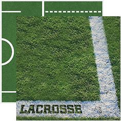 Reminisce LACROSSE 12x12 Dbl-Sided (2)PCS Scrapbooking Papers 99 CENT SALE!