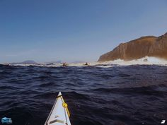 Paddling through the foam and spray in the Southern Ocean off the South West Coast of Tasmania.  If you want to explore this amazing part of the world this summer make sure to check out Roaring 40s Kayaking.